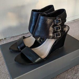 Black Vince Camuto sandal wedges